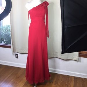 9️⃣true red grecian formal gown, bridesmaids prom